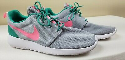 1879752a722db Nike Roshe One Run South Beach Mens Size 11 Running Shoes Green Pink 511881- 036