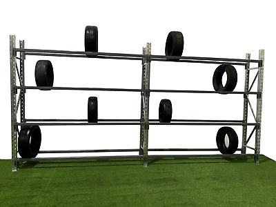 Tyre Racking, Tyre Bays, 1 - 6 bays complete with 4 levels