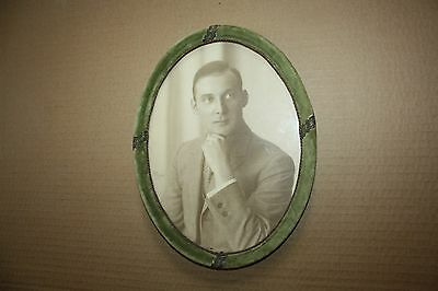 PHOTOGRAPHY OF YOUNG  Handsome MAN Framed photographs 1928 Vintage Black White