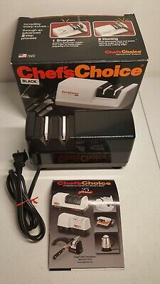 BLACK Chef's Choice 310 Electric 2 Stage Commercial Diamond Knife Sharpener