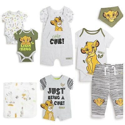 DISNEY THE LION KING SIMBA Bodysuit Trouser Bib Vests Blanket Primark 0-18m