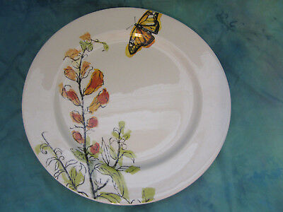 """Sonoma Life + Style Sprout Dinner Plate Butterfly Floral Approx. 11"""""""