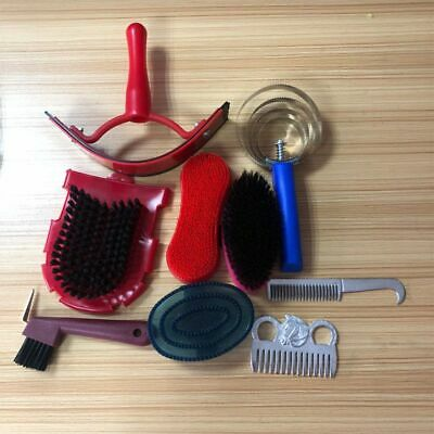 Horse Equestrian Grooming Kit Tool 9 In 1 Horse Cleaning Equipment Cleaning Set