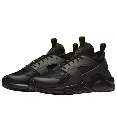 e2607b7f3e2d2 Nike Huarache Run Ultra Triple Black Shoes Sneakers Trainers 819685-002 Mens  11
