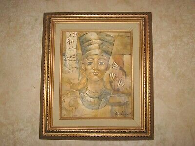 "Oil Painting On Canvas-Egyptian Prince  Signed By W. Harris - 13"" x 15"" Framed"