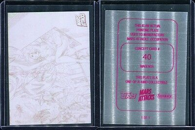 2015 Topps Mars Attacks Occupation Kickstarter #40 Magenta Printing Plate 1/1