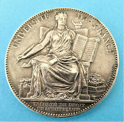 FRANCE-1889- - SEATED FAME - ART NOUVEAU SILVER by DUBOIS