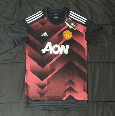 cd235bd5c Adidas Manchester United Home17 18 Pre Game Jersey Red Black BS2608 Men s  Size M