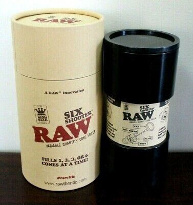 RAW Six Shooter King Size Cone Filler~New In Box