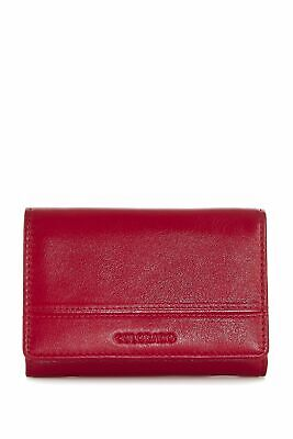 New Colorado Leather RFID Small Trifold Womens Small Purse Wallet Black