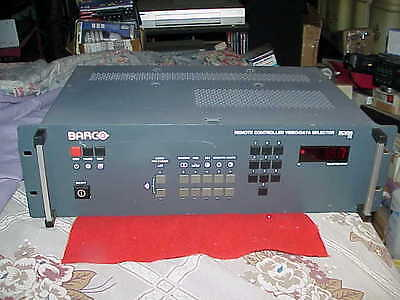 Barco Rcvds 05 Remote Controlled Video/data Selector(Good Condition)