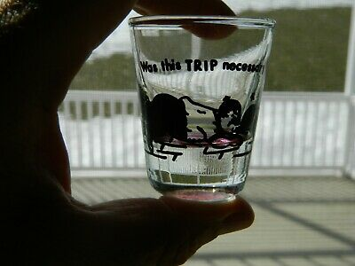 Vintage - Was This Trip Necessary - Bowling Spoof Shot Glass