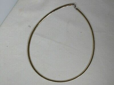 03d83f7b2a74b VINTAGE 14K ITALY yellow/white Gold reversable Choker Necklace Estate  Jewelry