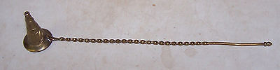 Vintage Brass Candle Snuffer with Twisted Handle - Fancy