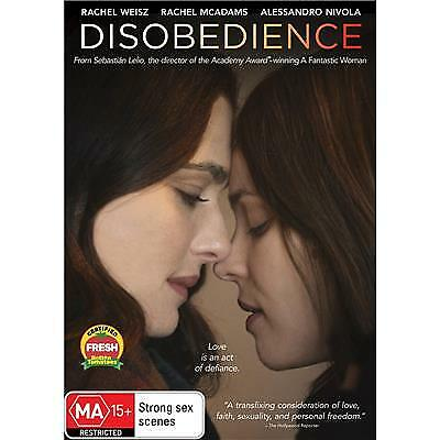 Disobedience Dvd, New & Sealed, 2018 Release, Region 4, Free Post