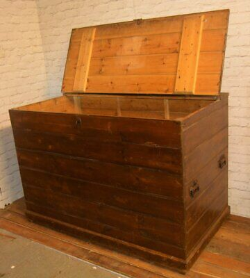 Large pine chest draw cabinet box trunk industrial bedroom wooden kitchen antiqu