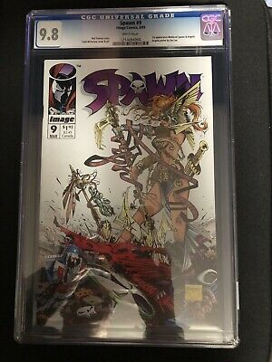 Spawn #9 (1993) Cgc 9.8 Cover By Todd Mcfarlane First Angela