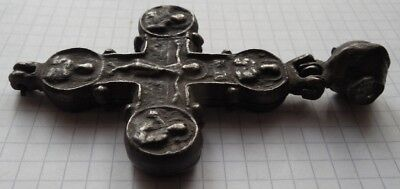 VIKING Period silver big thick massive Cross encolpion