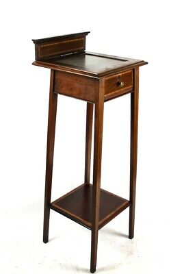 Antique Inlaid Mahogany Marble Top Console Table - FREE Shipping [PL5040]