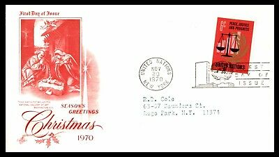 United Nations FDC 1980 Christmas First Day Cover