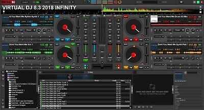VIRTUAL DJ PRO Infinity 8 3 Portable supplied On A USB Drive