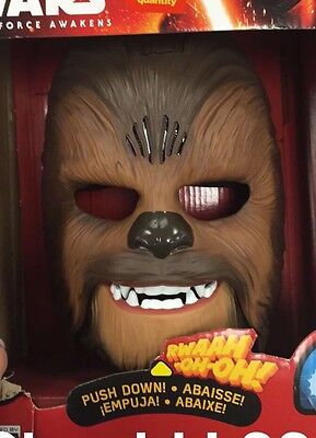 Chewbacca Electronic Mask Star Wars The Force Awakens Hasbro Talking Halloween