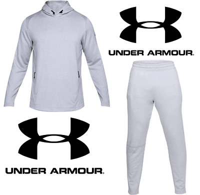 NWT UA Under Armour Mens French Terry Tapered Pants & Fitted Hoodie (S) Small