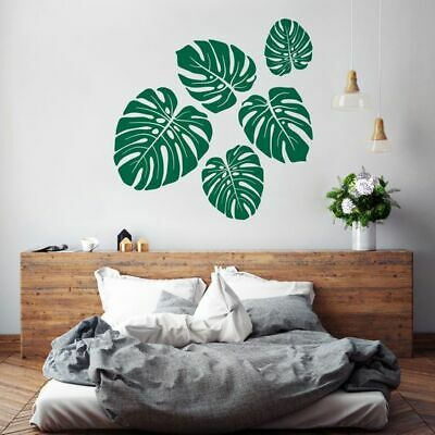 NEW Vinyl Design Tropical Leaves Wall Decal