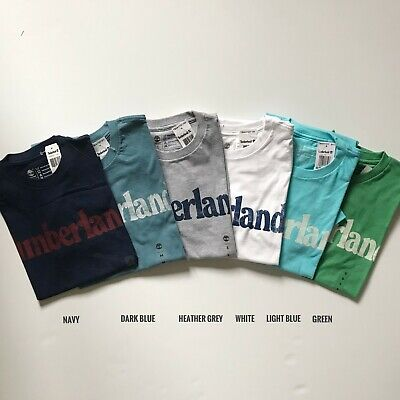 NWT Timberland Men's Faded Linear Logo Short Sleeve Crew Neck T Shirt A11GY NEW