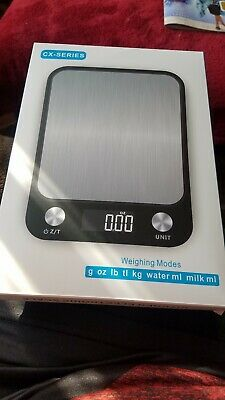 Kitchen Scale Stainless Steel Digital Electric 5Kg/10Kg Accurate Weight Measure