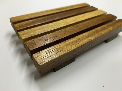 Bathroom Wooden Soap Dish Drain Tray Holder Storage Rack Plate  YI