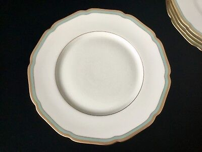Royal York Turquoise & Gold Dinner Plate Lucretia Celeste Germany ~Elegant!