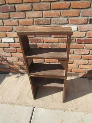 Primitive Stool Chair Shelf Folding Multipurpose Step Ladder Combo Does it all