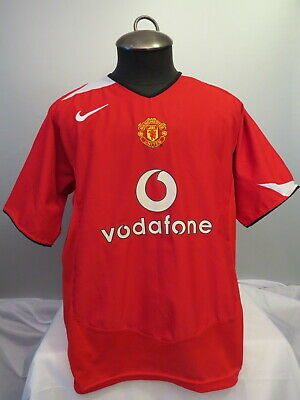 size 40 6fdff d1e85 MANCHESTER UNITED JERSEY - 2004/2005 Home Red Jersey - By Nike 90 - Men's XL