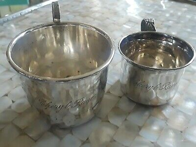35773909e8a4 LOT 2 VINTAGE Antique Sterling Silver Childs Baby Mug Cup -  29.00 ...