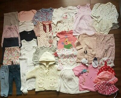 *F*A*B*Baby girl clothes bundle 3-6 months* dresses * tops*leggings *Mothercare
