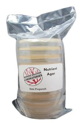 Sterilized Nutrient Agar 10, 100mm x 15mm Plates + 10 Sterile Cotton Swabs