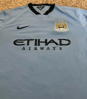 huge selection of e8d29 6656c EUC MENS NIKE Authentic Home Manchester City Sergio Kun Aguero Jersey XL