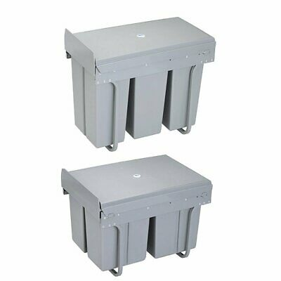 Recycle Pull Out 30 Litre Dustbin Rubbish Waste Bin Kitchen Cupboard Trash Can N