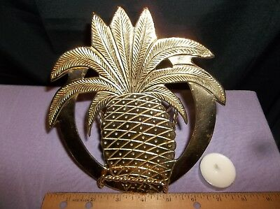 Brass Three Legged Trivet with Pineapple Motif for Stove or Table Top