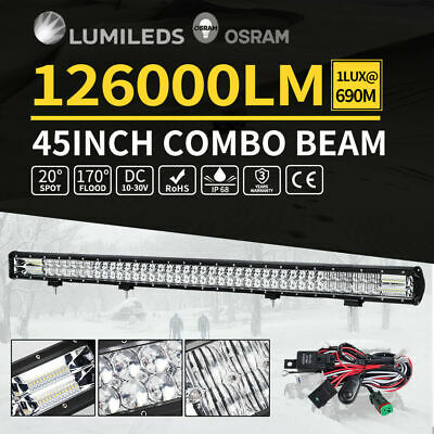Cree LED Light Bar Spot Flood Offroad Work Driving Osram Lamp 4WD 4x4 45inch