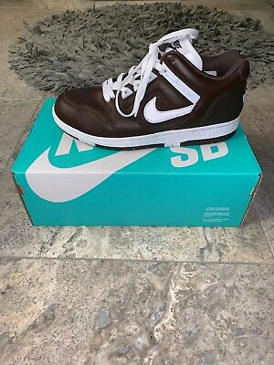 finest selection f2388 a4825 Nike SB x Supreme Air Force 2 AF2 2017 Low Dark Brown Size 8.5