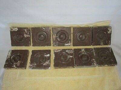Antique Victorian Bullseye Moulding Corner Blocks, Lot of 10