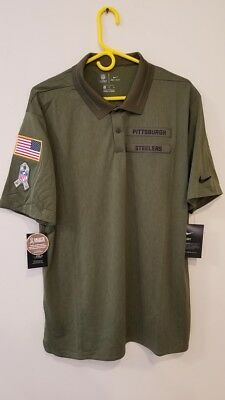 d17c7c5e1 NIKE PITTSBURGH STEELERS Gold Sideline Team Issue Logo Performance ...