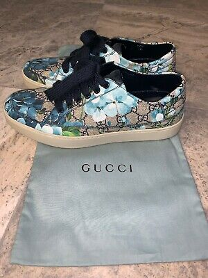 d309ca9fe Men's Blue Floral Gucci Shoes (Authentication From Saks Fifth Avenue)