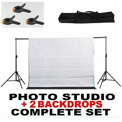 10FT Heavy Duty Adjustable Photography Background Support Stand Kit With Case BT
