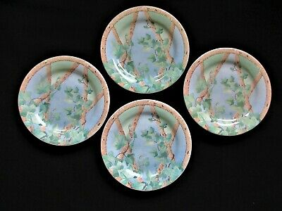 """Set of 4~ GIEN France """"LE LIERRE"""" Ivy  Canape~Bread Plates~Unused 6-5/8"""""""