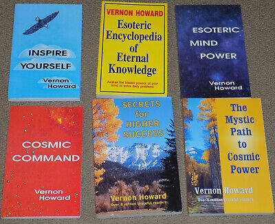 LOT OF 6 Esoteric and Metaphysical Books by Vernon Howard - Like New