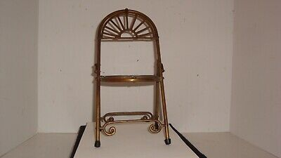 Vintage brass decorative folding chair plant stand doll chair Penco Industries