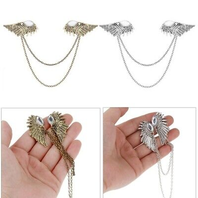 Angel Wings Collar Pin Brooch Sweater Shawl Clips Holder Fashion Decoration